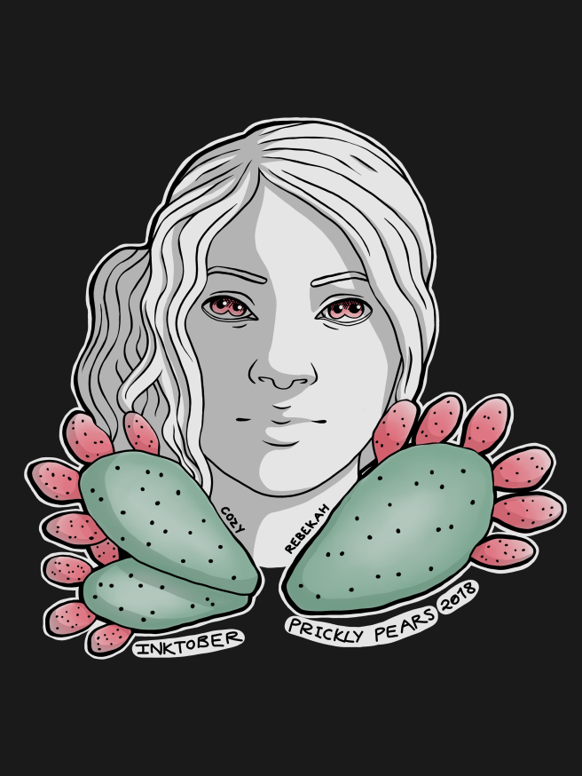 Inktober Day 7 - Prickly Pear by Cozy Rebekah