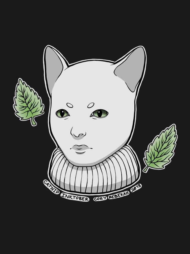 Inktober Day 10 - Catnip by Cozy Rebekah