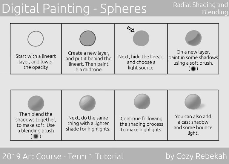 2019 Art Course - Term 1 - Digital Painting Tutorial - cozyrebekah.com