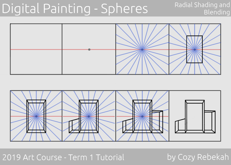 2019 Art Course - Term 1 - One Point Perspective Tutorial - cozyrebekah.com