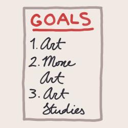 Do: Make art goals. - www.cozyrebekah.com