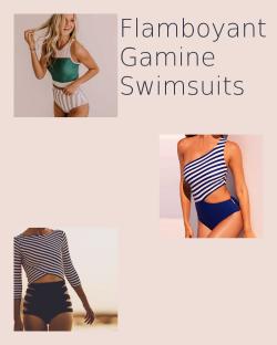 Flamboyant Gamine Swimsuits