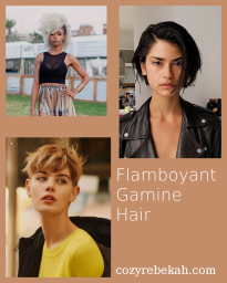 Flamboyant Gamine Hair