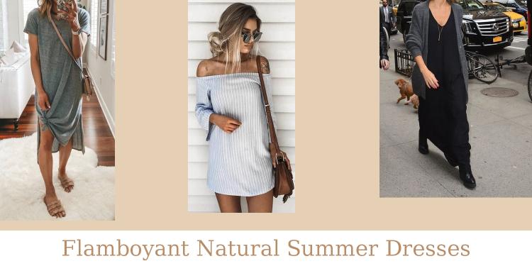 Flamboyant Natural Summer Dresses