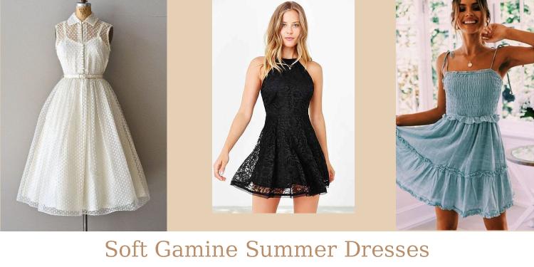 Soft Gamine Summer Dresses