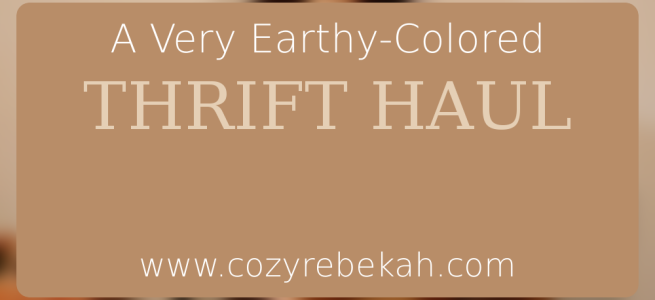 A Very Earthy-Colored Thrift Haul - www.cozyrebekah.com