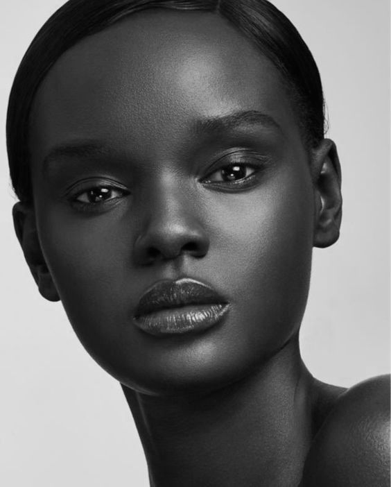 A black & white image of Duckie Thot