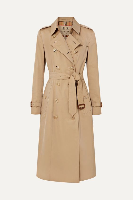 A classic Burberry trench coat